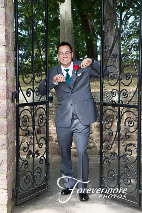 Tyler Hall Bucks county Community College. Groom and gate image.