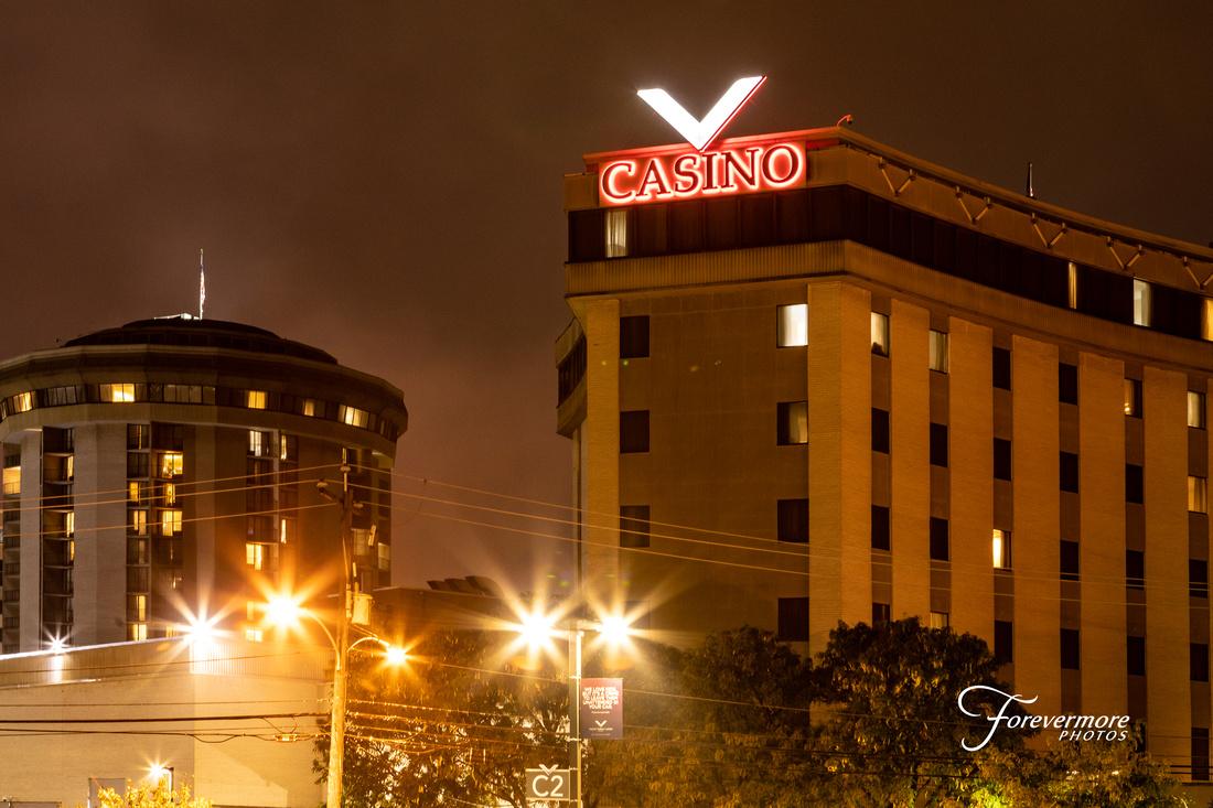 Valley Forge Casino Resort at night