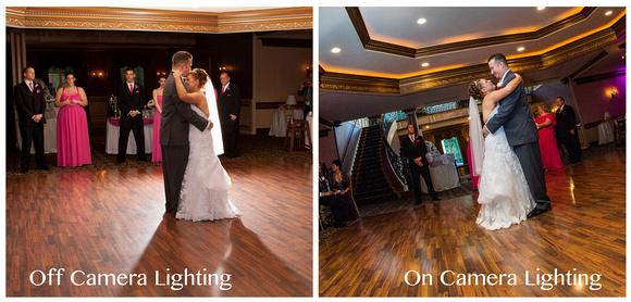 Off camera lighting vs on camera lighting.