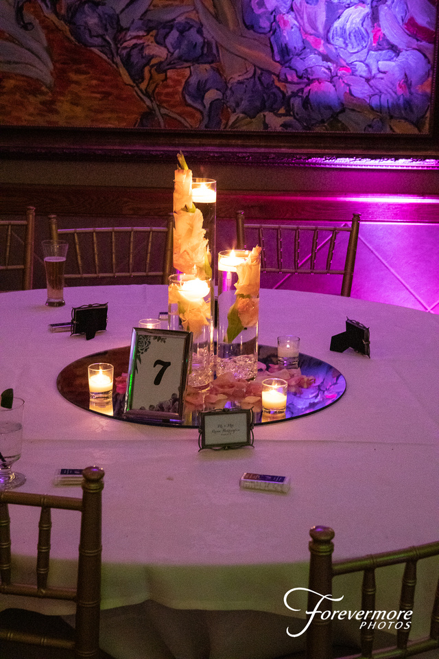 Wedding Details table setting