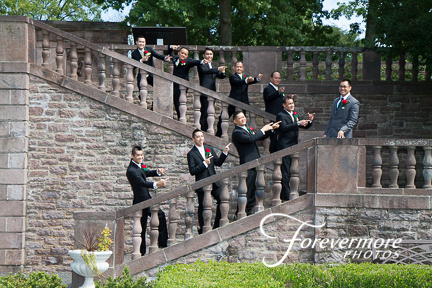 Groom and Groomsmen at Tyler Hall, BCCC.